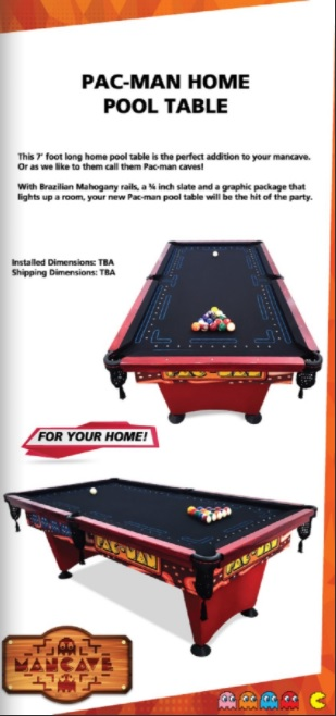 PacMan Pool Table - Pool table description