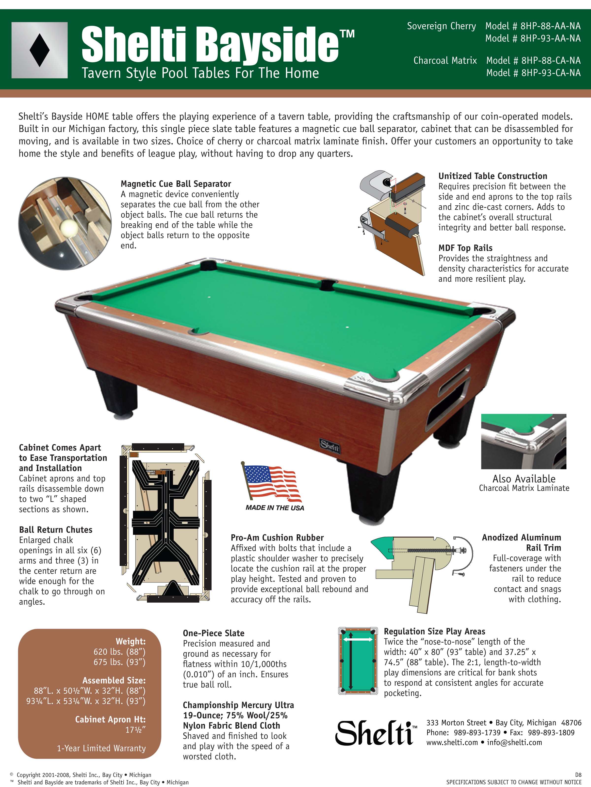 Monkeys Arcades Shelti Bayside Home Pool Table - How wide is a pool table